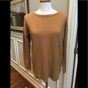 Talbots 3/4 sleeve sweater in camel